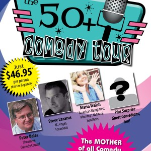50+ Comedy Tour 12x18 poster_levittown mday
