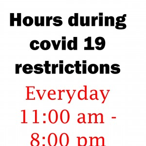 Hours during covid 19 restrictions